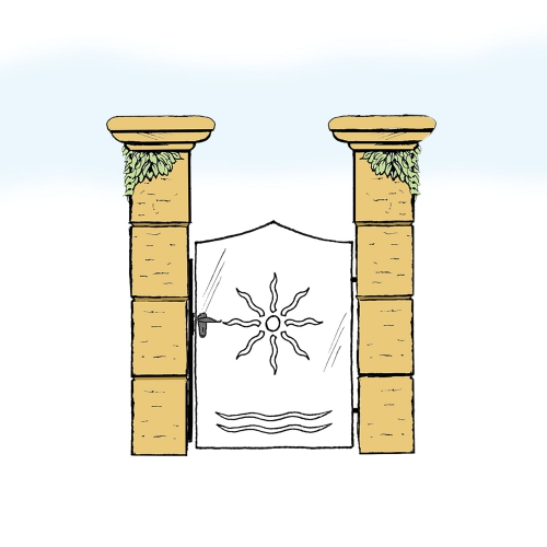 Eisentür für Hof & Garten * SG-021 / Portoncino