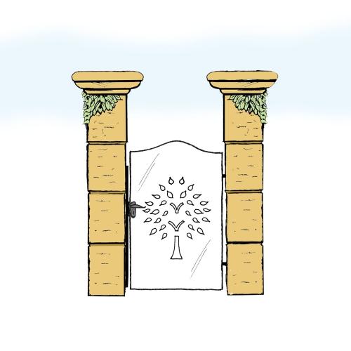 Eisentür für Hof & Garten * SG-022 / Portoncino