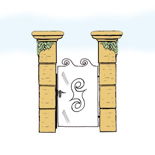 Eisentür für Hof & Garten * SG-023 / Portoncino