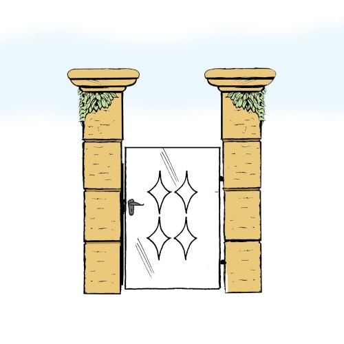 Eisentür für Hof & Garten * SG-024 / Portoncino