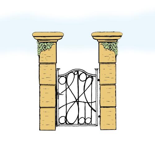 Eisentür für Hof & Garten * SG-025 / Portoncino