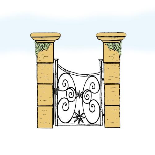 Eisentür für Hof & Garten * SG-026 / Portoncino