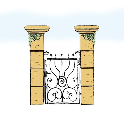 Eisentür für Hof & Garten * SG-028 / Portoncino
