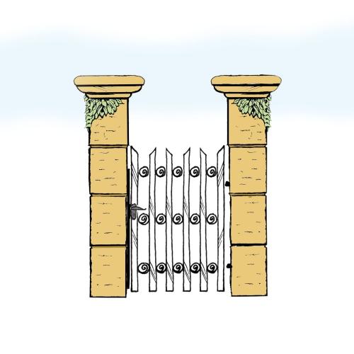 Eisentür für Hof & Garten * SG-029 / Portoncino