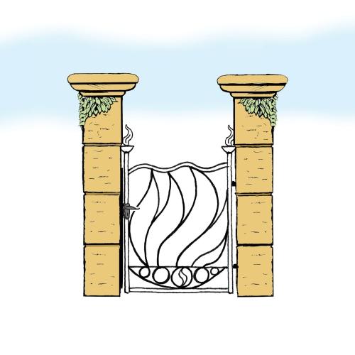 Eisentür für Hof & Garten * SG-030 / Portoncino