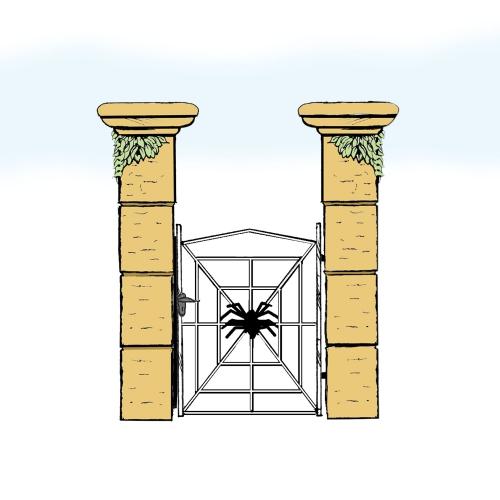 Eisentür für Hof & Garten * SG-031 / Portoncino