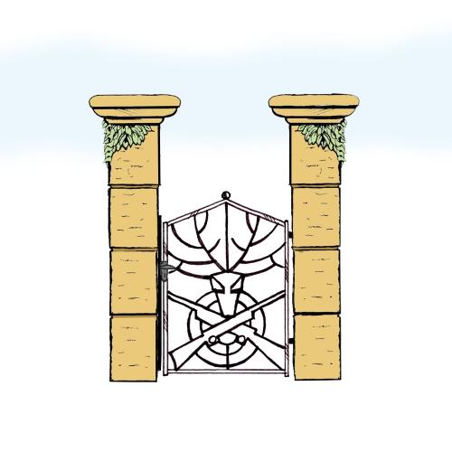 Eisentür für Hof & Garten * SG-032 / Portoncino