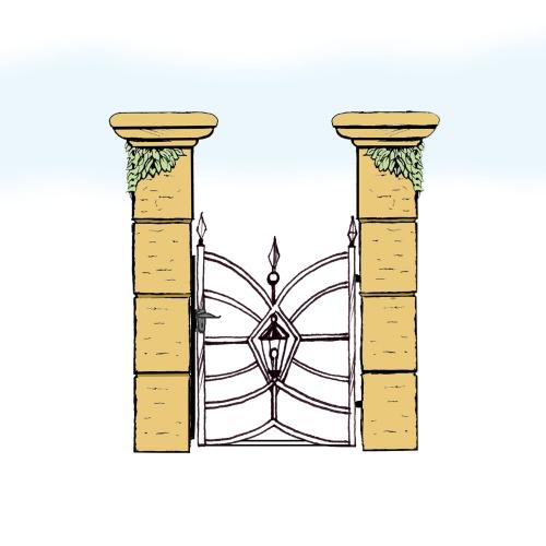 Eisentür für Hof & Garten * SG-033 / Portoncino