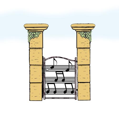 Eisentür für Hof & Garten * SG-034 / Portoncino
