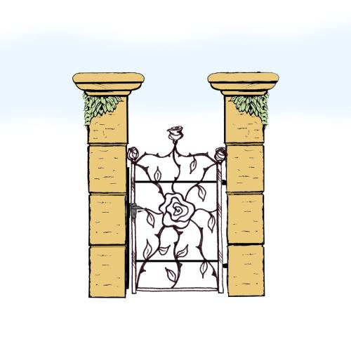 Eisentür für Hof & Garten * SG-035 / Portoncino