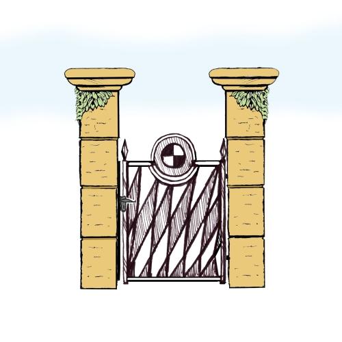 Eisentür für Hof & Garten * SG-036 / Portoncino