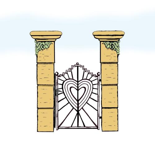 Eisentür für Hof & Garten * SG-037 / Portoncino