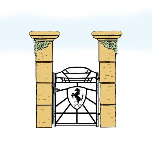 Eisentür für Hof & Garten * SG-040 / Portoncino