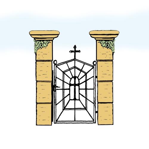 Eisentür für Hof & Garten * SG-039 / Portoncino
