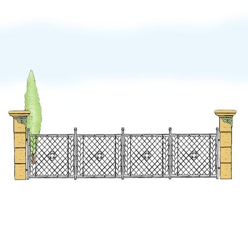 Eisenzaun für Hof & Garten * SG-002 / Sponda