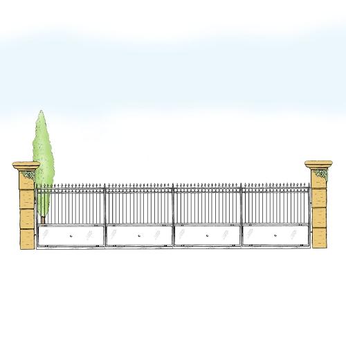 Eisenzaun für Hof & Garten * SG-012 / Sponda