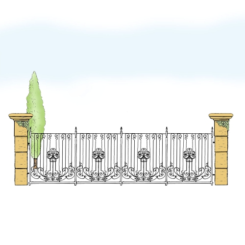 Eisenzaun für Hof & Garten * SG-014 / Sponda