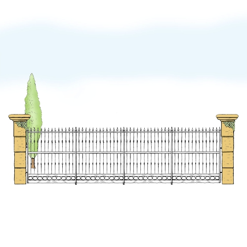 Eisenzaun für Hof & Garten * SG-016 / Sponda