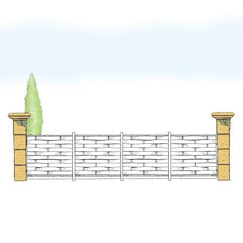 Eisenzaun für Hof & Garten * SG-018 / Sponda