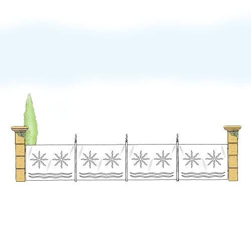 Eisenzaun für Hof & Garten * SG-021 / Sponda