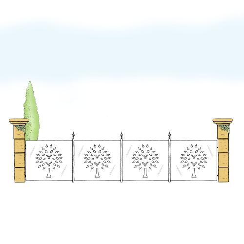 Eisenzaun für Hof & Garten * SG-022 / Sponda