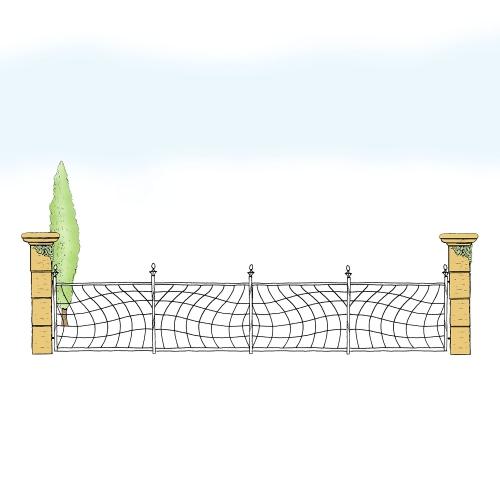 Eisenzaun für Hof & Garten * SG-027 / Sponda