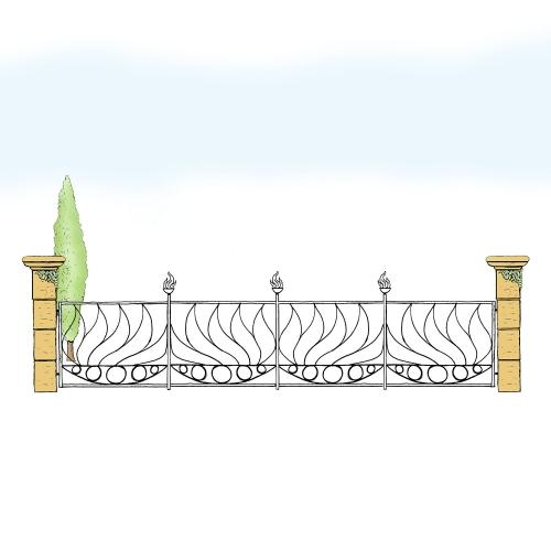 Eisenzaun für Hof & Garten * SG-030 / Sponda