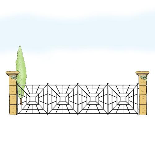 Eisenzaun für Hof & Garten * SG-031 / Sponda