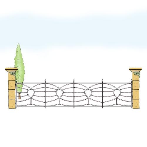 Eisenzaun für Hof & Garten * SG-033 / Sponda