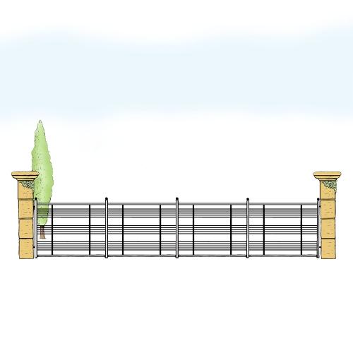 Eisenzaun für Hof & Garten * SG-034 / Sponda